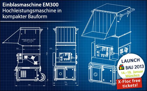 Einblasmaschine EM300: Hochleistungsmaschine in kompakter Bauform