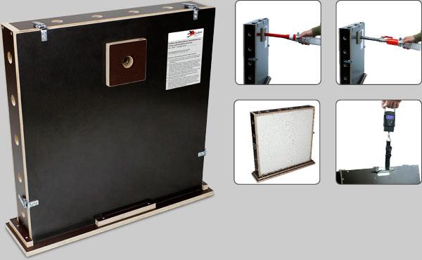 Prüfbox für Mineralfaser-Kerndämmung / test element for mineral fiber cavity insulation