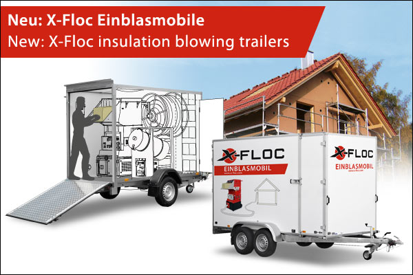 X-Floc Einblasmobile/insulation blowing trailers